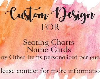 Custom Seating Chart / Name Card Sign Design