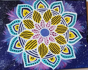 Galaxy Inspired Mandala Painting
