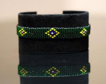 Brazil Flag Bracelet | Maasai Beaded Bracelets | Flag of Brazil | Brazil Flag Wrist Band