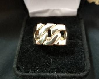Side to Side 10k Link Ring
