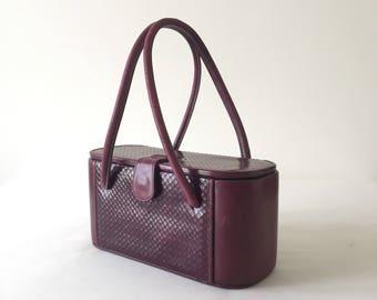 Vintage Burgundy vanity bag