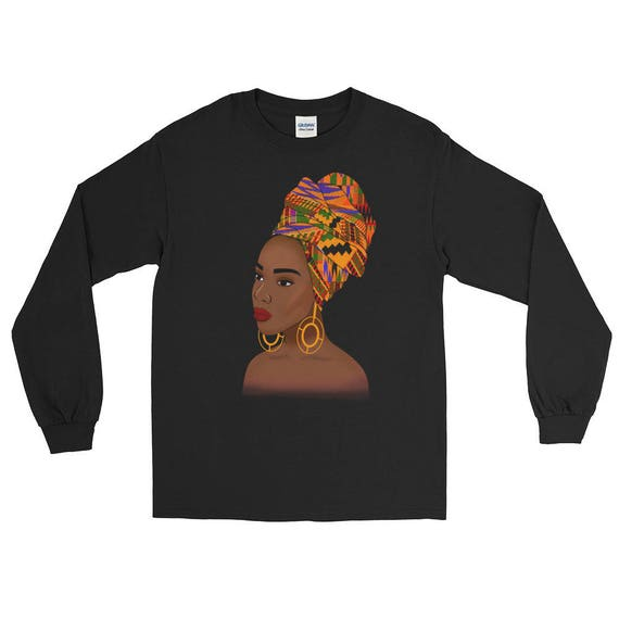 Kente Queen Long Sleeve T-Shirt