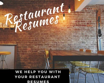 Restaurant Resume writing Service
