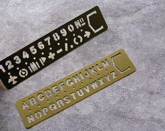 Stencil  Ruler /Journal Stencil/Scrapbooking DIY