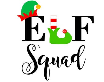 Christmas svg, elf squad svg, svg elf squad, elf svg svg elf, svg christmas, merry christmas svg, holiday svg, svg holiday,christmas elf svg
