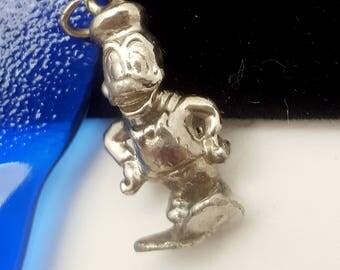 Vintage Silvertone Disney Donald Duck Charm