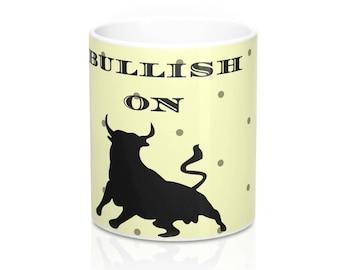 WALLSTREET CREATION -  BULLISH On America - Mug 11 Oz - gift