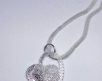 Valentines Heart Pendent silver chain