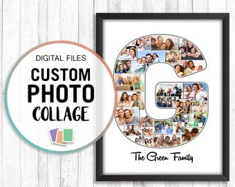 Letter Collage Photos, Photo Letter Collage, Graduation Collage, Name Photo Collage, Surname Digital, Photo Collage Gift, Custom Collage Pdf