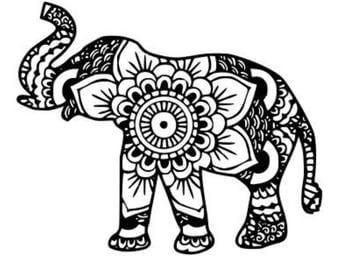 Madala elephant window decal
