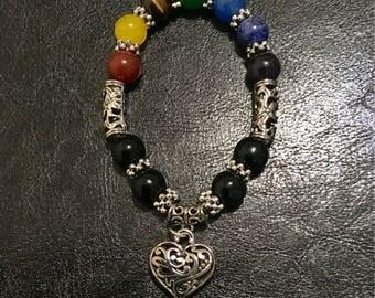 7 Chakras Beads Reiki Heart Bracelet