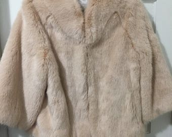 Blush color Faux Fur Jacket