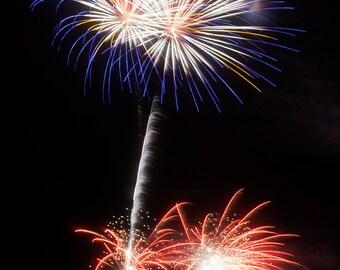 Fireworks Print, Fireworks, New Years, Lights, Celebration