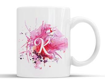 Personalised Initial Paint Splash Mug
