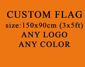 Custom Flag and Banner 3x5ft 90x150cm full color print with you own logo or artwork Polyester Banner 2 Metal Grommets