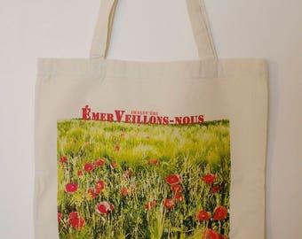 """Tote bag """"Marvel we"""" poppies"""