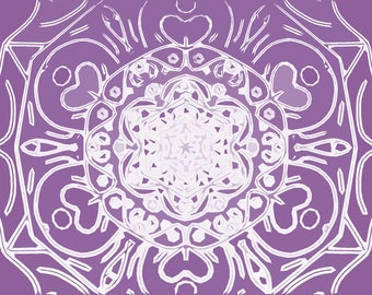 Scandinavian violet pattern