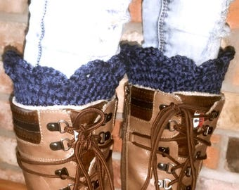 Cuddly thick cuffs for boots-real handmade-free color wish-winter must have-gift for you-accessory-tulips