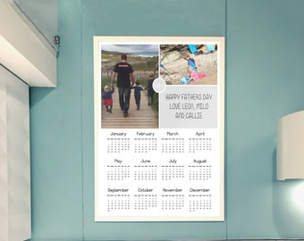 A4 photo calendar, personalised calendar, fathers day gift, photo gift