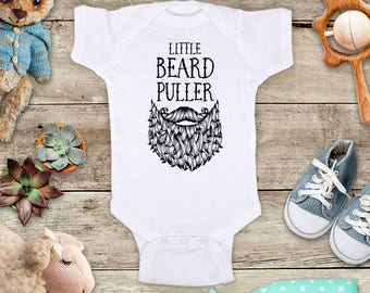 Little Beard Puller - Funny Baby Bodysuit Shower Gift - Made in USA - toddler kids youth shirt