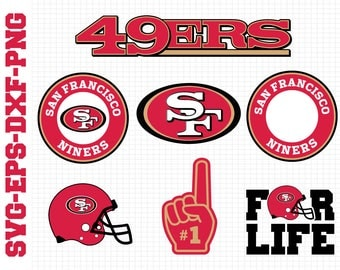 San Francisco 49ers Svg, cut files, print files, clipart, vector, T-shirt design, football logo, circut, silhouette cameo