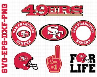 San Francisco 49ers Svg, cut files, print files, clipart, vector, T-shirt design, football logo, circut, silhouette cameo