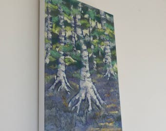 Path Through the Birches Canvas Print