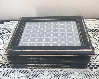 Vintage Shabby Chic Jewelry Box