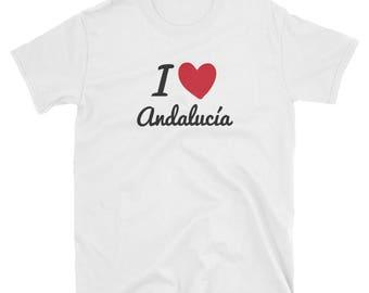 Andalucia, Spain T-Shirt, Spain T-Shirt, Spanish Graphic Tee, Spain Souvenir, Unisex T-Shirt