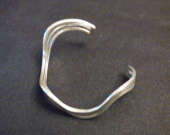Silver modernist bracelet