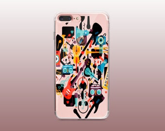 Music Clear TPU Phone Case for iPhone 8- iPhone 8 Plus - iPhone X - iPhone 7 Plus-iPhone 7-iPhone 6-iPhone 6S-Samsung S8