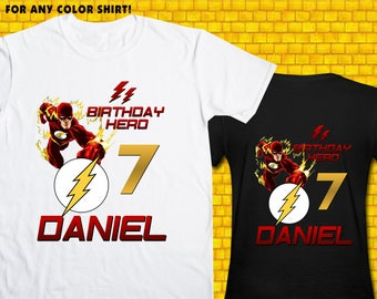 The Flash / Iron On Transfer / Boy Birthday Shirt Design / DIY Shirt / High Resolution / For Any Color T Shirt / 12 Hours Turnaround Time