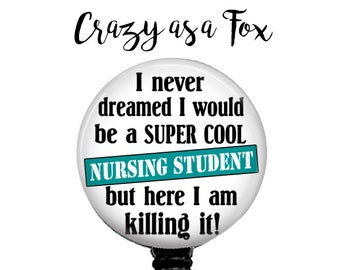 Nursing Student Retractable Badge Holder, Badge Reel, Lanyard, Stethoscope ID Tag, Nurse, RN, Nursing Student Gift