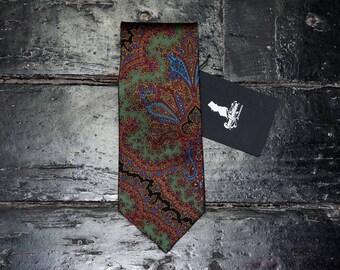 Multicolored silk tie