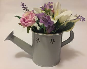 watering can flower arrangement mothers day