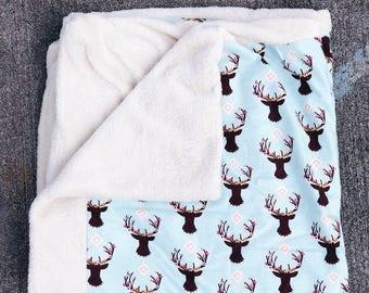 Soft Baby Blanket w Deers