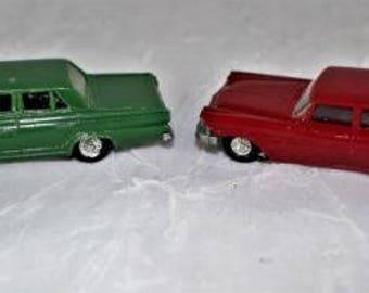 2 EKO Made In Spain HO Scale Plastic Cars