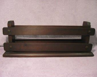 Vintage Wooden Enclosed Shelf   Vintage Wood Enclosed Narrow Bookcase    Wooden Narrow Knick Knack Shelf   Thin Shelf