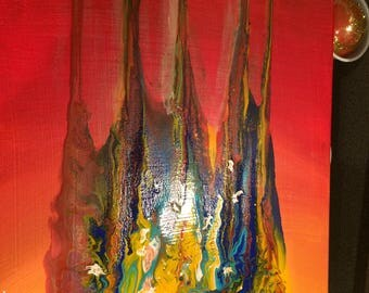 Acrylic Abstract Crown Painting
