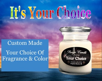 Scented Mini Jar Candles (4 oz.) Many Different Fragrances!