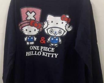 Rare Vintage One Piece x Hello Kitty Sweater Sweatshirt