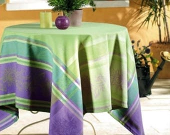 Cezanne Lilac Tablecloth, French Jacquard