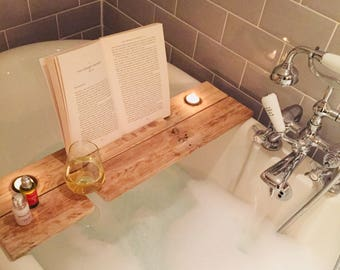 Collection only Reclaimed Wood Bath Caddy / Shelf collection order please see duplicate listing for delivery