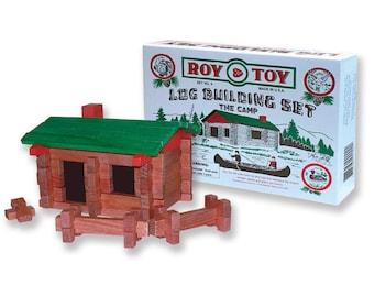 Original 37 pc. Log Camp Building Set