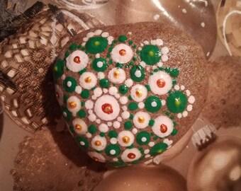 Mandala decorated stone