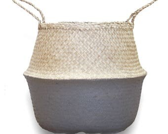 Grey Belly Basket - Large