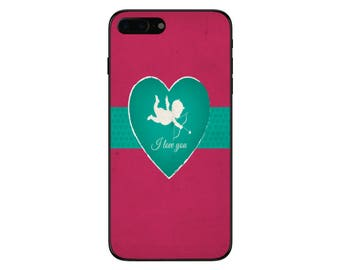 Valentines Day Cupid Phone Case for Apple Iphone 5 6 6s 7 8 10
