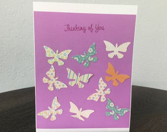 """Butterfly """"Thinking of You"""" card"""