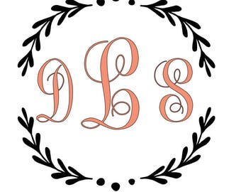 Monogrammed Car Decal