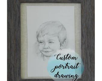 Custom Portrait Drawing from Photo